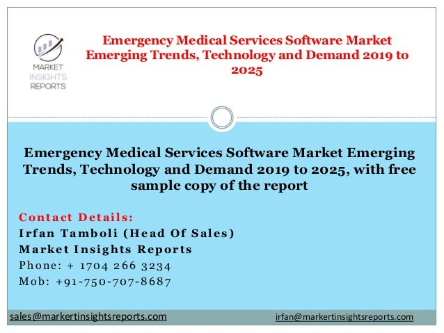 Contact Details: Irfan Tamboli (Head Of Sales) Market Insights Reports Phone: + 1704 266 3234 Mob: +91-750-707-8687 Emerge...