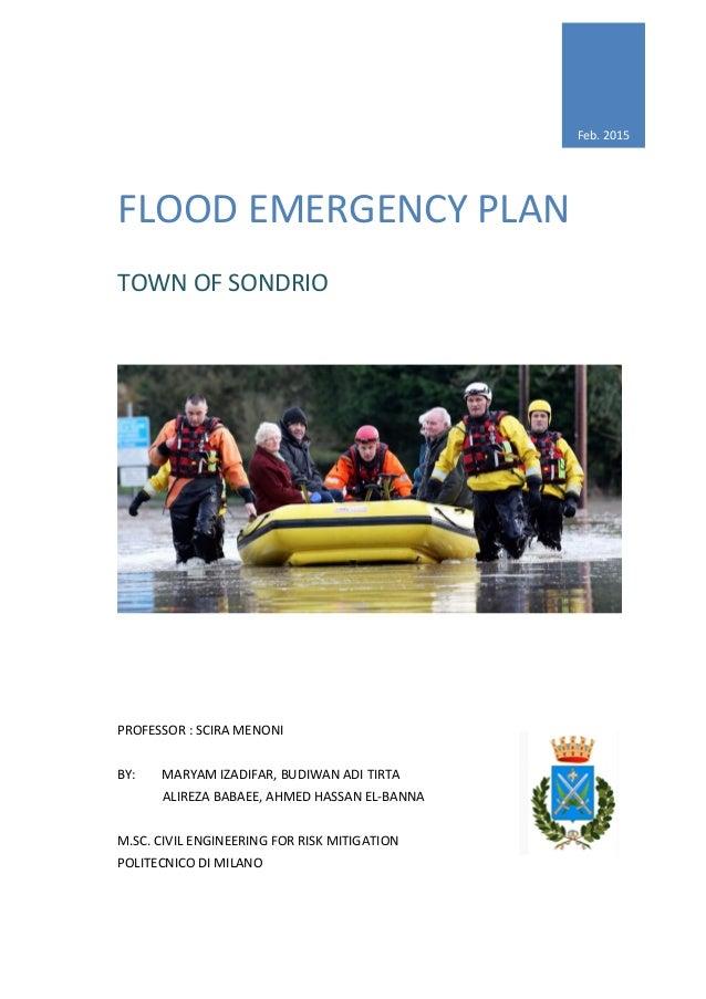 Development of Emergency Plan of a flood scenario in Sondrio