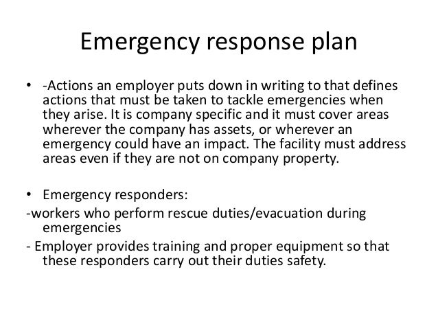 emergency preparedness and response plan template - emergency planning