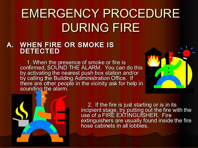 Emergency Procedure During Fire Revised on 35463