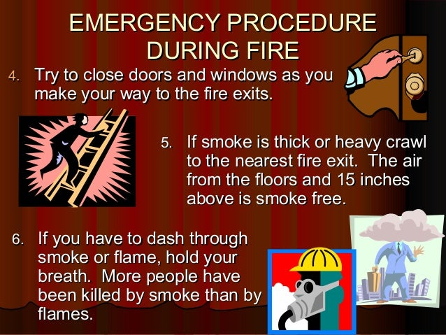 Emergency Procedure During Fire Revised