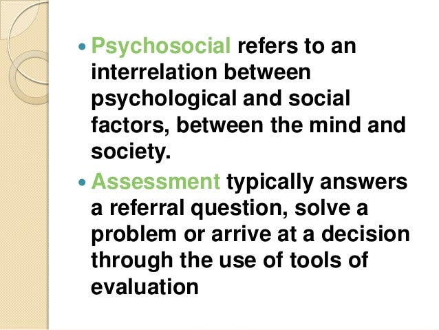 Emergency Psychosocial Assessment