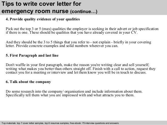 Emergency room nurse cover letter