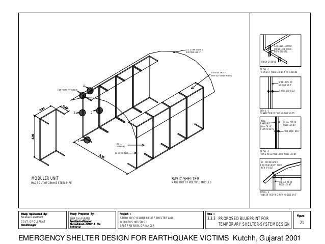 Emergency Shelter Systems : Emergency shelter system design by shirish avrani