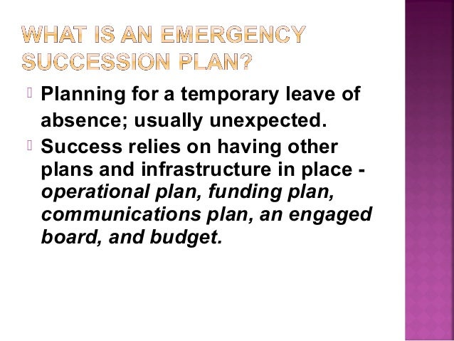 Succession Planning for Library Boards - Emergency Succession Plannin…