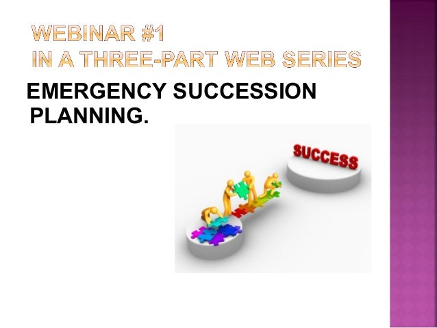 emergency succession plan template