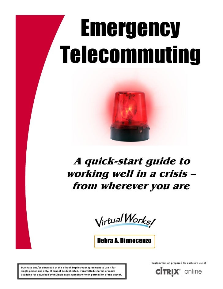 Emergency                               Telecommuting                                      A quick-start guide to         ...