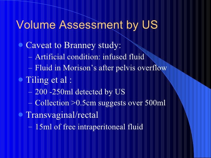 <ul><li>Caveat to Branney study: </li></ul><ul><ul><li>Artificial condition: infused fluid </li></ul></ul><ul><ul><li>Flui...