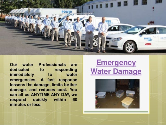 Emergency Water Damage Our water Professionals are dedicated to responding immediately to water emergencies. A fast respon...