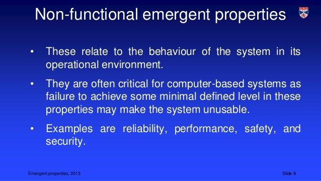 Superior Emergent Properties, 2013 Slide 8; 9.