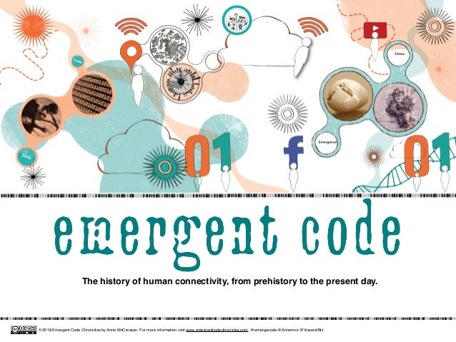 The history of human connectivity, from prehistory to the present day. © 2018 Emergent Code Chronicles by Anne McCrossan. ...