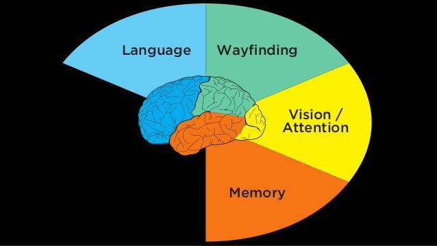 Language Wayfinding Vision / Attention MemoryEmotion