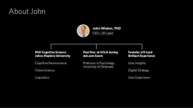 About John PhD Cognitive Science Johns Hopkins University Cognitive Neuroscience Vision Science Linguistics John Whalen, P...