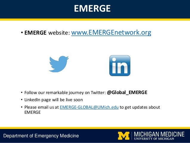 Creation of a Global Emergency Research Network E M E R G E