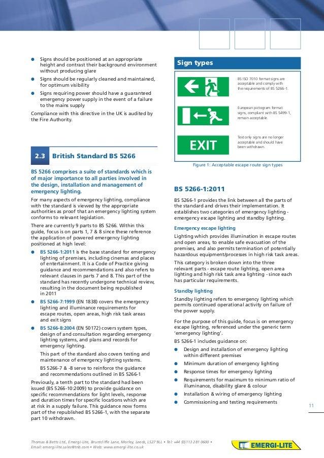 13.  sc 1 st  SlideShare & Emergi lite emergency lighting design guide