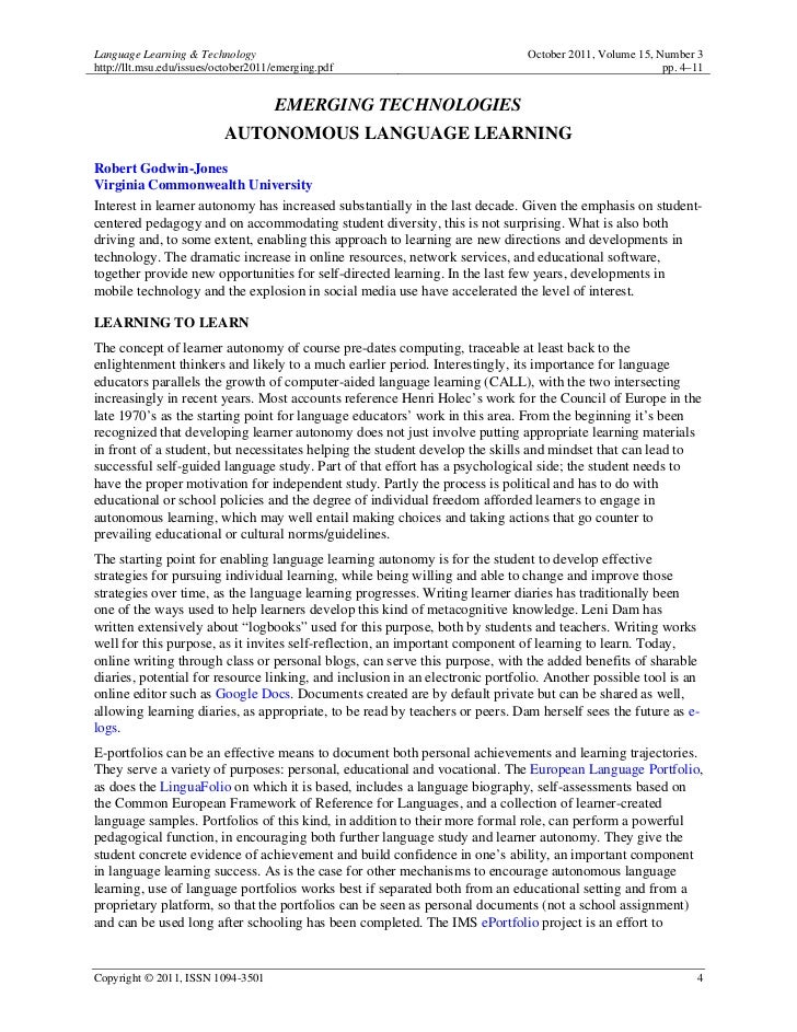 Language Learning & Technology                                                October 2011, Volume 15, Number 3http://llt....