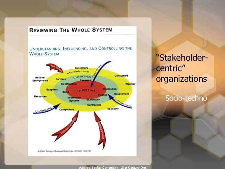 """ Stakeholder- centric"" organizations Socio-techno"