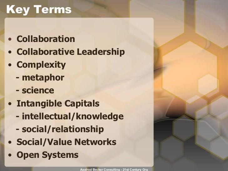 Key Terms <ul><li>Collaboration </li></ul><ul><li>Collaborative Leadership </li></ul><ul><li>Complexity </li></ul><ul><li>...