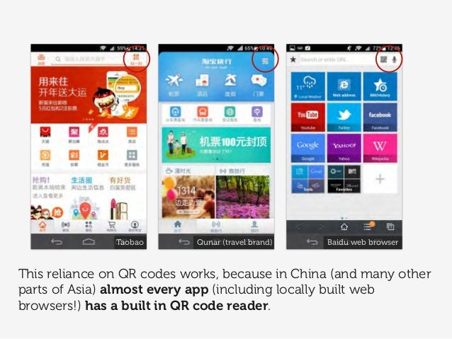 This reliance on QR codes works, because in China (and many other parts of Asia) almost every app (including locally built...