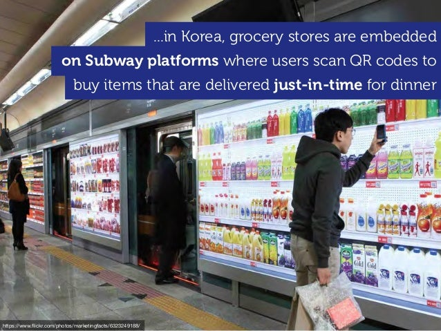 https://www.flickr.com/photos/marketingfacts/6323249188/ ...in Korea, grocery stores are embedded on Subway platforms where...