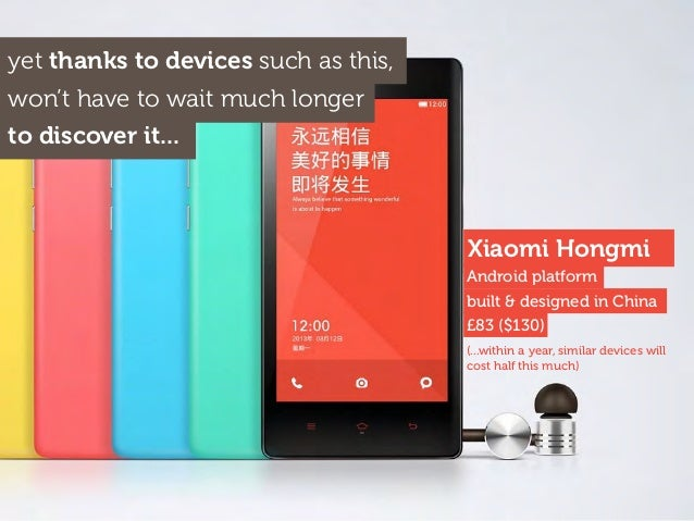 Xiaomi Hongmi yet thanks to devices such as this, won't have to wait much longer to discover it... (...within a year, simi...