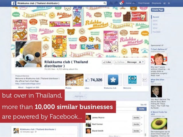 more than 10,000 similar businesses are powered by Facebook... but over in Thailand,