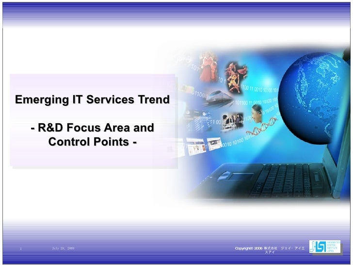 Emerging IT Services Trend - R&D Focus Area and Control Points -