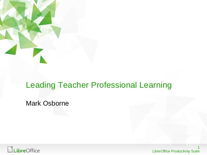 Leading Teacher Professional LearningMark Osborne                                                             1           ...