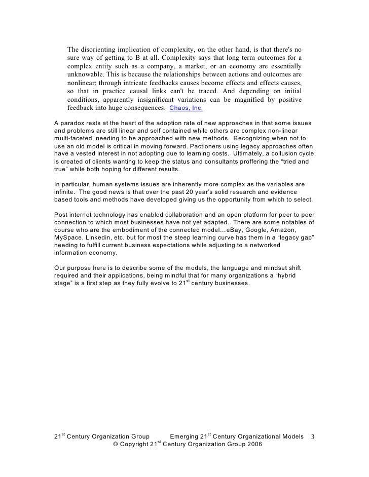 Emerging 21st century organizational models abc Slide 3