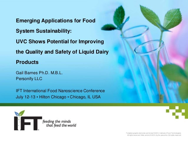 Emerging Applications for Food System Sustainability: UVC Shows Potential for Improving the Quality and Safety of Liquid D...