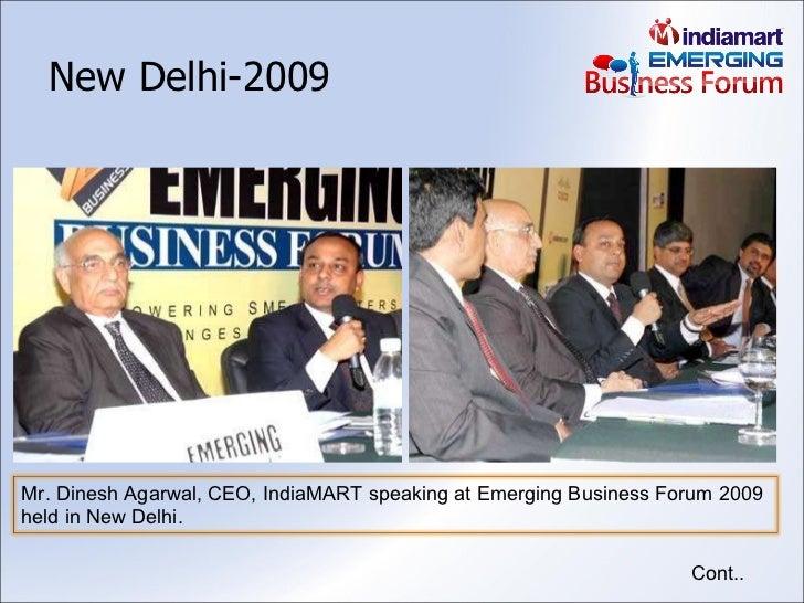 New Delhi-2009 Cont.. Mr. Dinesh Agarwal, CEO, IndiaMART speaking at Emerging Business Forum 2009 held in New Delhi.