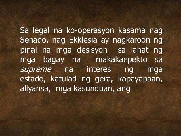 Sa legal na ko-operasyon kasama nag Senado, nag Ekklesia ay nagkaroon ng pinal na mga desisyon sa lahat ng mga bagay na ma...
