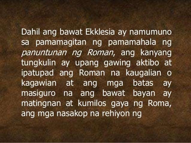 Dahil ang bawat Ekklesia ay namumuno sa pamamagitan ng pamamahala ng panuntunan ng Roman, ang kanyang tungkulin ay upang g...