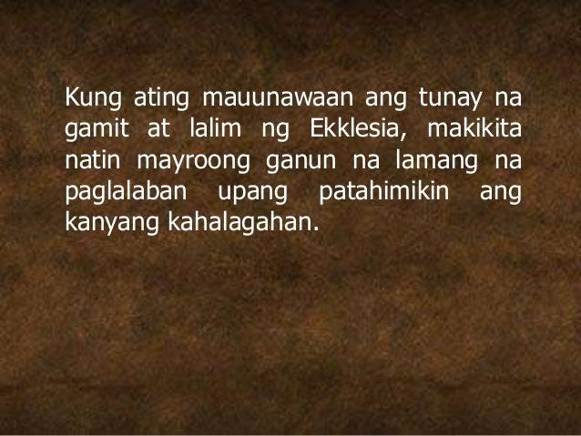 Kung ating mauunawaan ang tunay na gamit at lalim ng Ekklesia, makikita natin mayroong ganun na lamang na paglalaban upang...