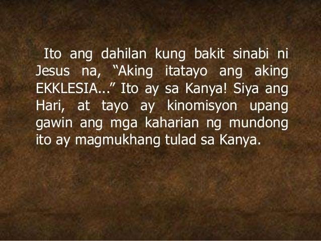 """Ito ang dahilan kung bakit sinabi ni Jesus na, """"Aking itatayo ang aking EKKLESIA..."""" Ito ay sa Kanya! Siya ang Hari, at ta..."""