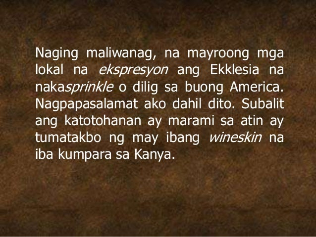 Naging maliwanag, na mayroong mga lokal na ekspresyon ang Ekklesia na nakasprinkle o dilig sa buong America. Nagpapasalama...