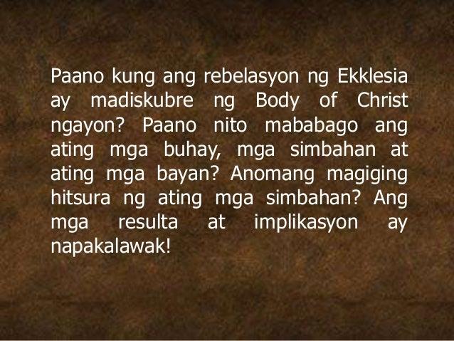 Paano kung ang rebelasyon ng Ekklesia ay madiskubre ng Body of Christ ngayon? Paano nito mababago ang ating mga buhay, mga...