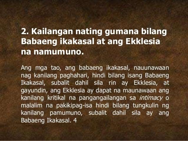 2. Kailangan nating gumana bilang Babaeng ikakasal at ang Ekklesia na namumuno. Ang mga tao, ang babaeng ikakasal, nauunaw...