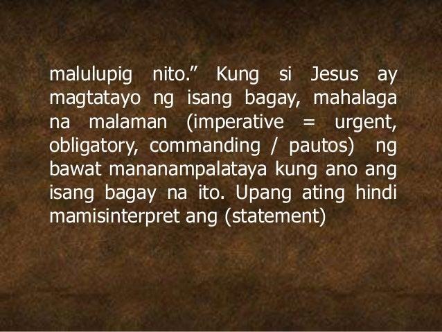 """malulupig nito."""" Kung si Jesus ay magtatayo ng isang bagay, mahalaga na malaman (imperative = urgent, obligatory, commandi..."""