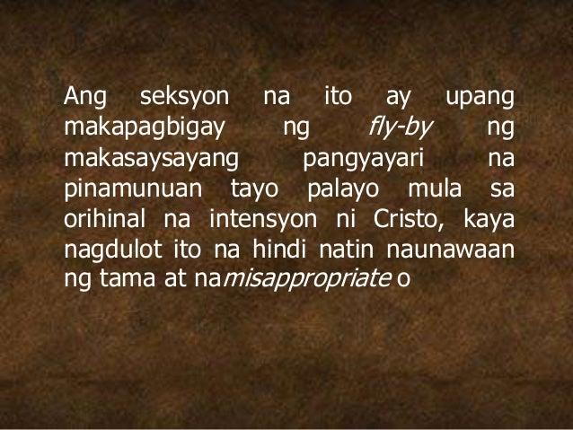 Ang seksyon na ito ay upang makapagbigay ng fly-by ng makasaysayang pangyayari na pinamunuan tayo palayo mula sa orihinal ...