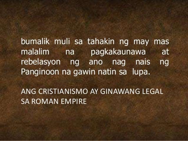 bumalik muli sa tahakin ng may mas malalim na pagkakaunawa at rebelasyon ng ano nag nais ng Panginoon na gawin natin sa lu...