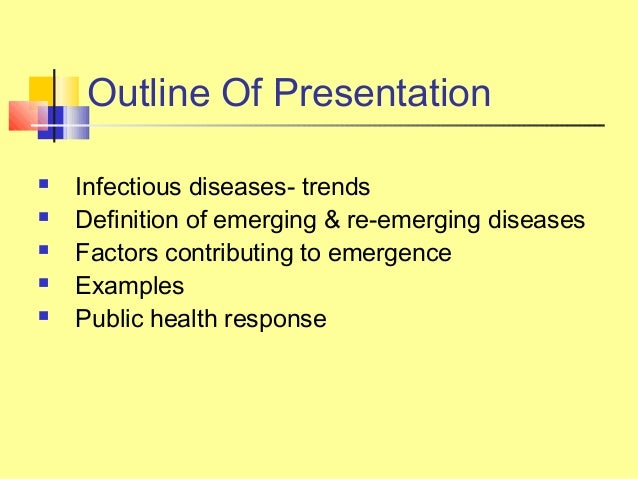 Emerging infectious diseases essay