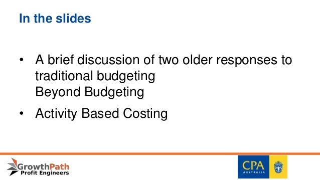 a discussion on activity based costing Activity based costing is a resource consumption model that can provide a wealth of information to aid in decisions concerning product and process improvements 3 we will return to this idea in chapter 8 under the heading of activity based management (abm).
