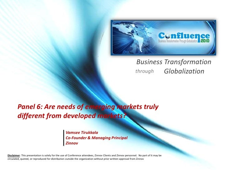 Business Transformation<br />Globalization<br />through<br />Are needs of emerging markets truly different from developed ...