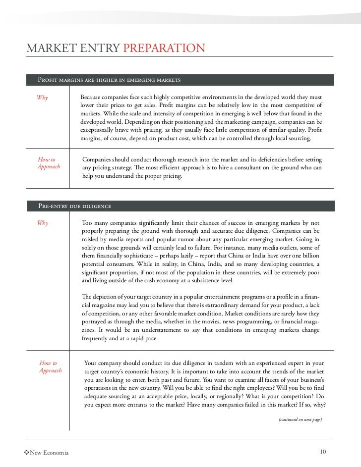 Emerging marketing strategy