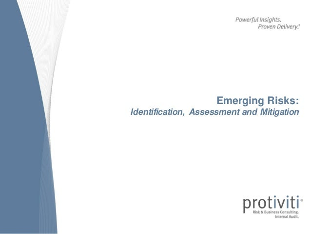 Emerging Risks: Identification, Assessment and Mitigation