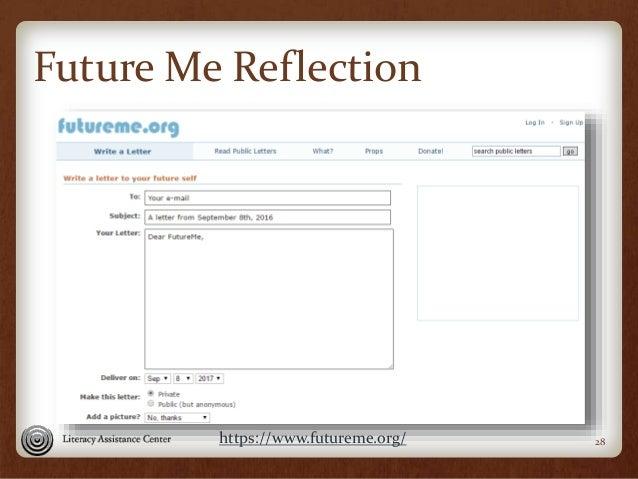 Future Me Reflection 28https://www.futureme.org/