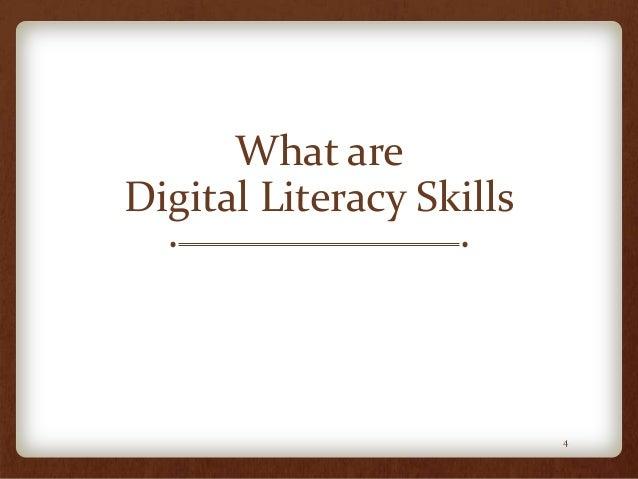 What are Digital Literacy Skills 4