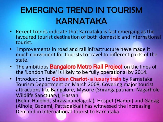 Emerging Trend In Karnataka Tourism By Sudhir Kiran