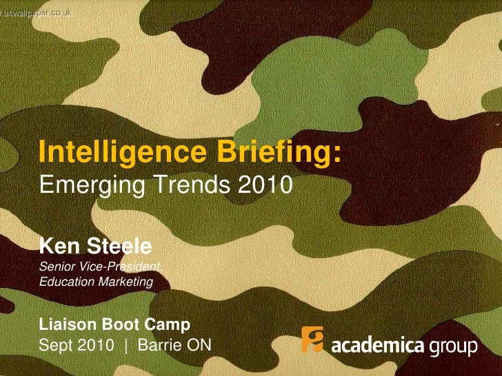 Emerging Trends 2010 - Ontario College Recruiters Boot Camp